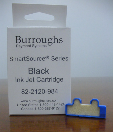 Burroughs SmartSource Inkjet Cartridge with Felt Pad