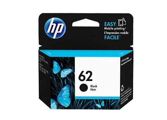 HP 62 BLACK Ink Cartridge for HP Envy 5660