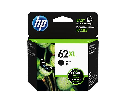 HP 62XL High Yield BLACK Ink Cartridge for HP Envy 5660