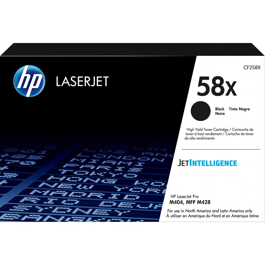 HP 58X High Yield Black Original LaserJet Toner Cartridge
