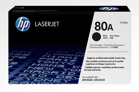 HP 80A Black LaserJet Toner for HP LaserJet Pro M401dw