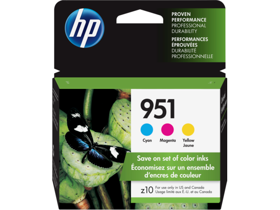 HP 951 3-Pack Cyan/ Yellow/ Magenta Original Ink Cartridges