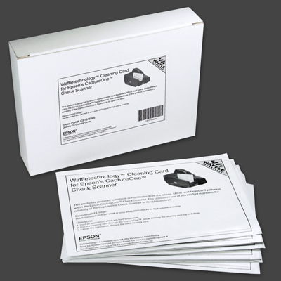 Epson Waffle Technology Cleaning Cards- 15/Pkg.