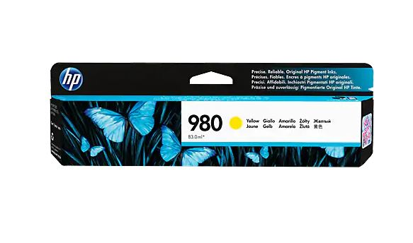 HP 980 YELLOW Original Ink Cartridge - D8J09A