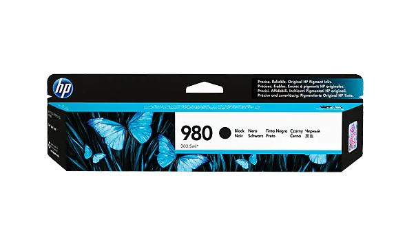 HP 980 BLACK Ink Cartridge - D8J10A