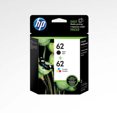HP 62 2-pack Black/Tri-color Ink Cartridges for HP Envy 5660