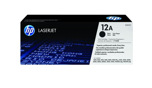 HP 12A Black LaserJet Toner for HP LaserJet 1022