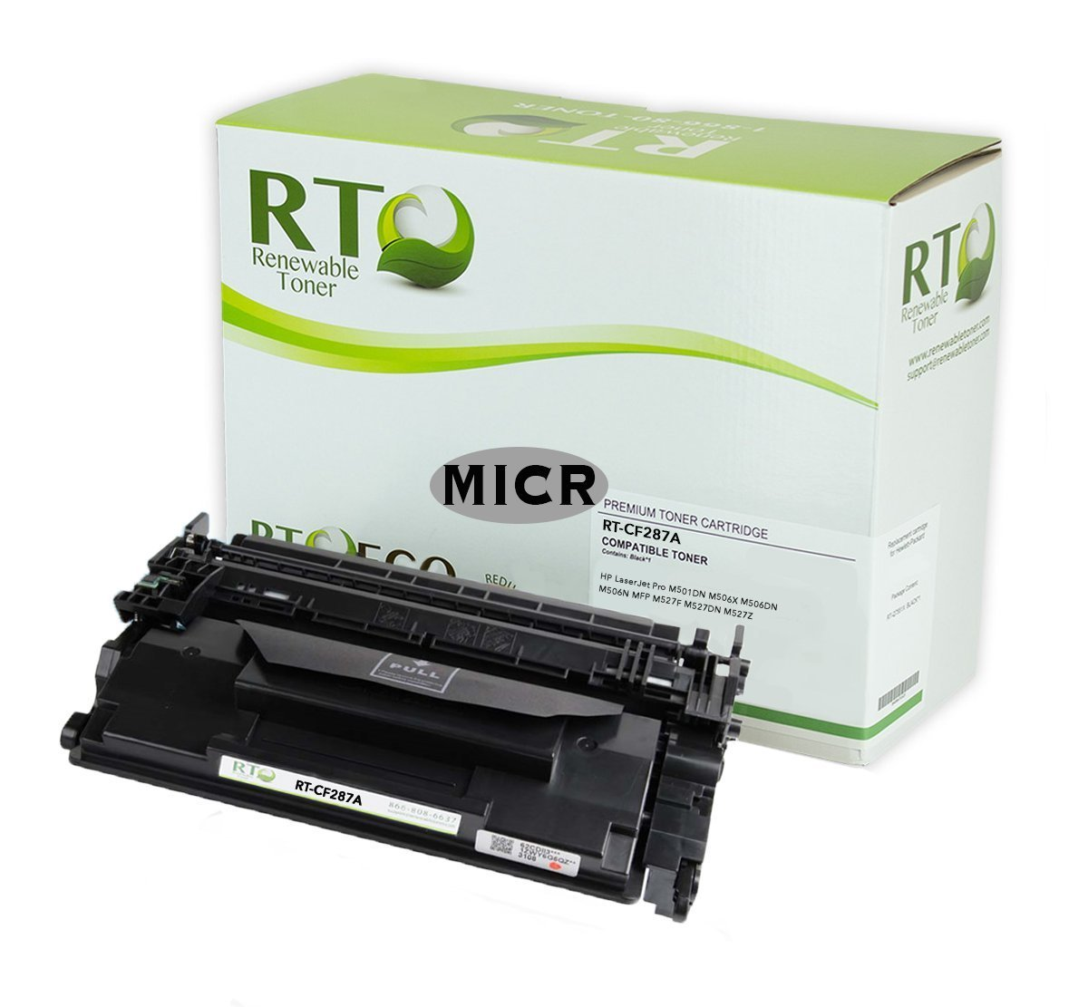 Renewable Toner MICR Toner 18k Yield Compatible for HP M506