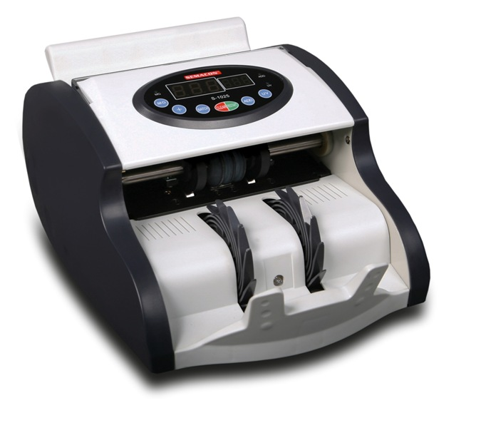 Semacon S-1025 Compact Currency Counter w/ UV & MG Counterfeit D