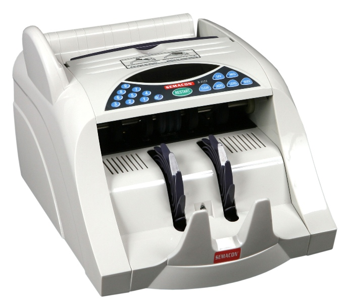 Semacon S-1125 Currency Counter w/ UV & MG Counterfeit Detection