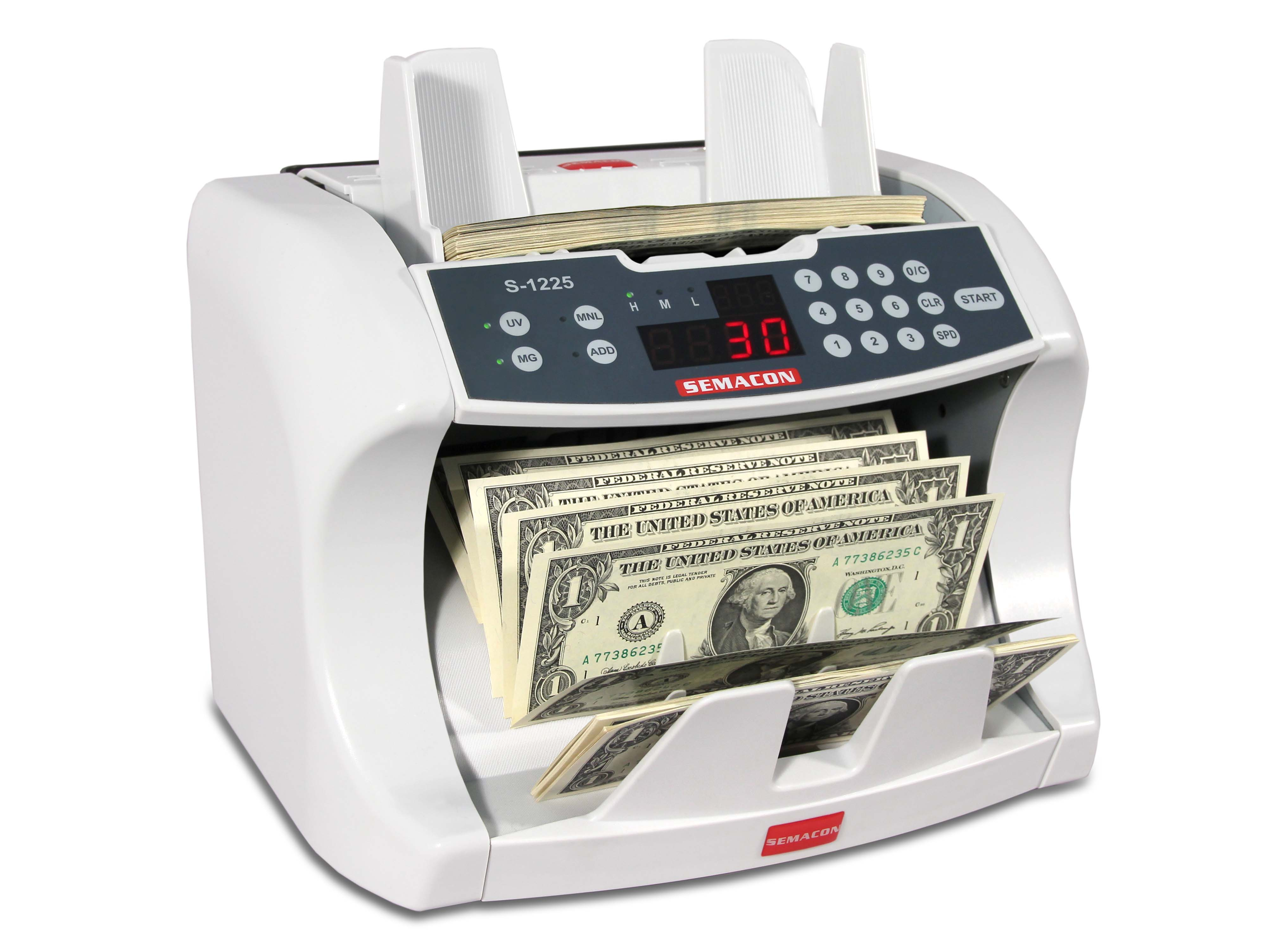 Semacon S-1225 Currency Counter w/ UV & MG Counterfeit Detection