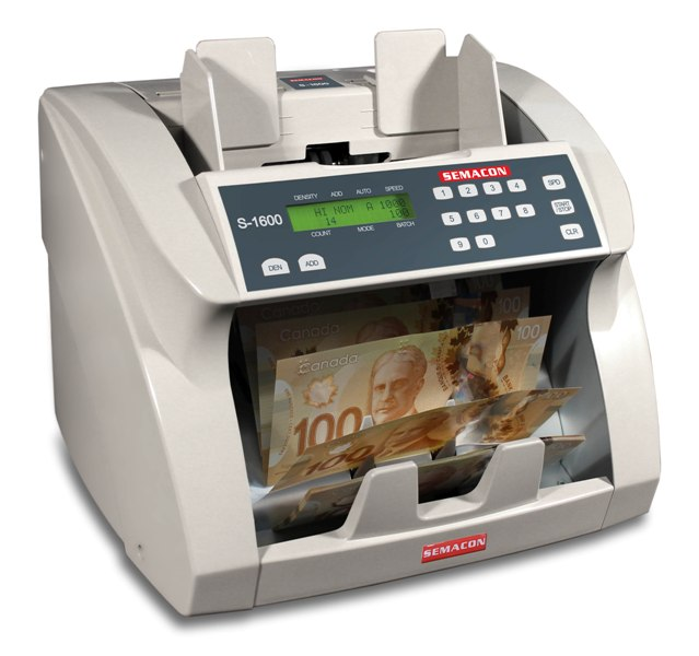 Semacon S-1600 Canadian Currency Counter