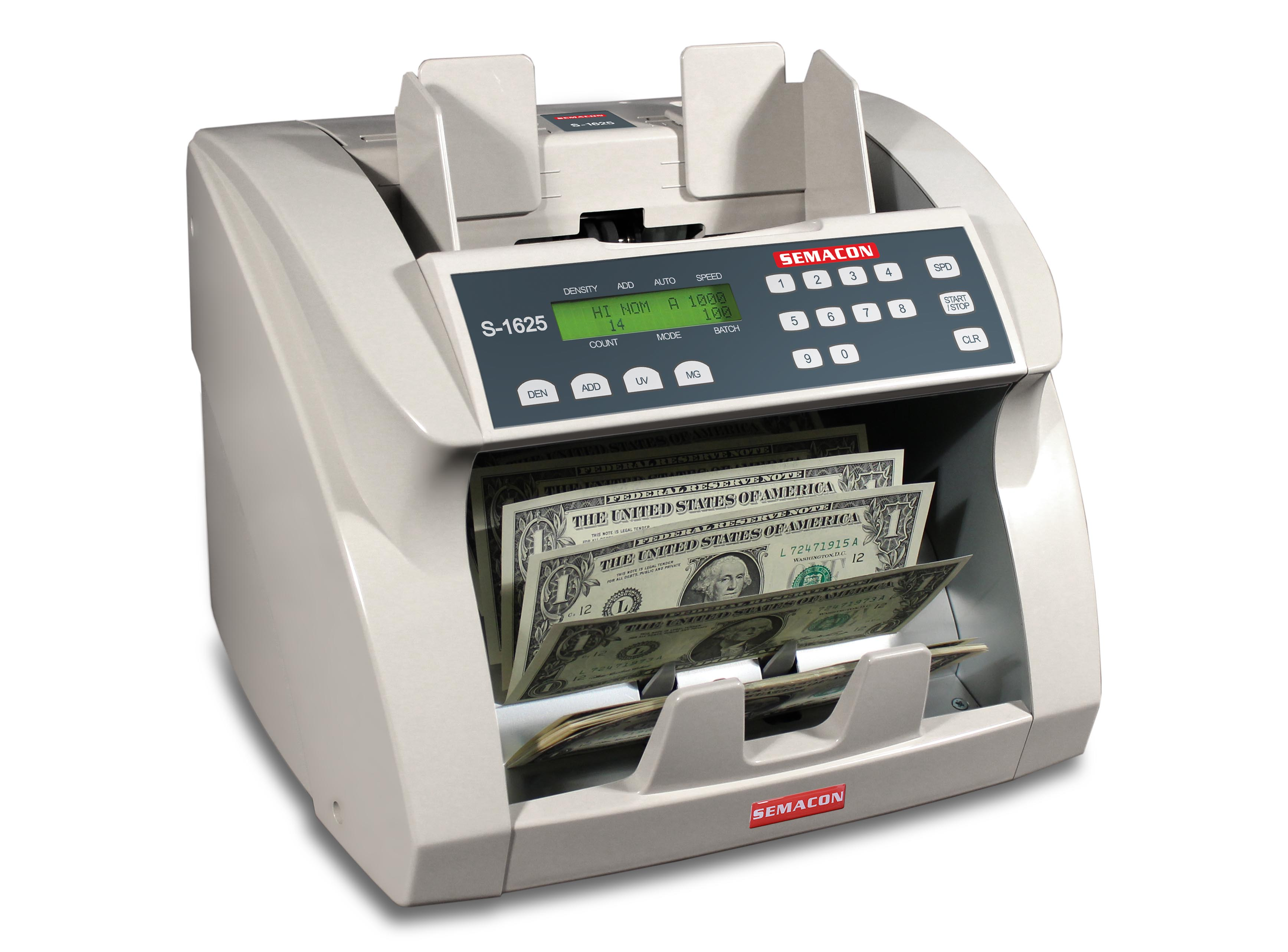 Semacon S-1625 Currency Counter w/ UV & MG Counterfeit Detection