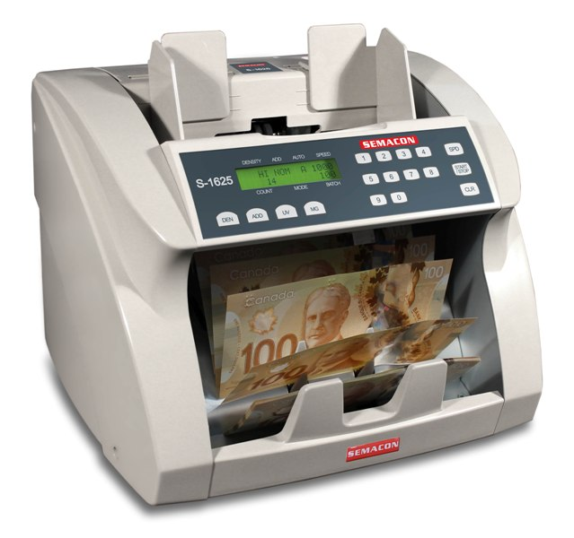Semacon S-1625 Canadian Currency Counter w/ UV & MG Detection