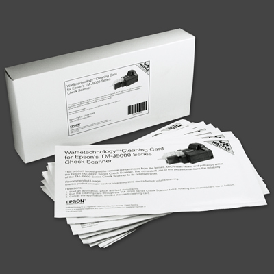 Epson Waffle Technology Cleaning Cards for TM-J9000 - 15/Pkg.