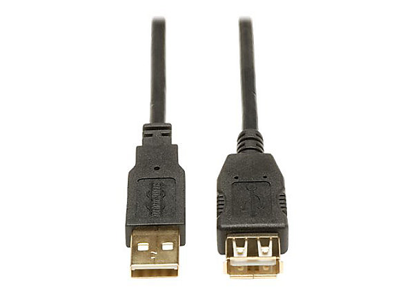 Tripp Lite 3ft USB 2.0 Hi-Speed Extension Cable Shielded A Male