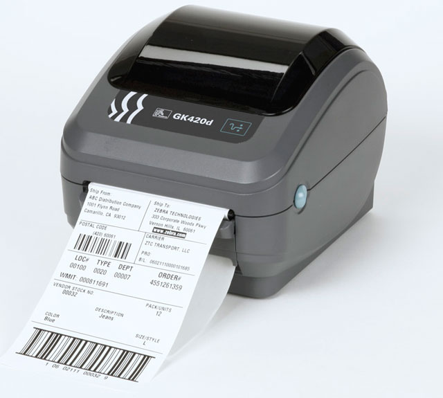 Zebra GK420d Desktop Label Direct Thermal Printer